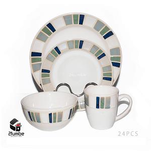 24 pieces ceramic dinner set