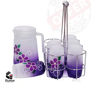purple glass waterset