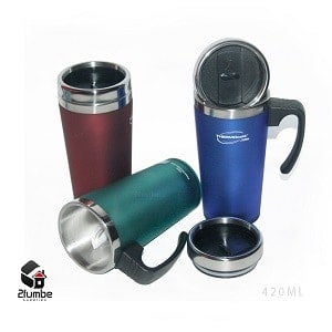 Thermos stainless travel mug with handle
