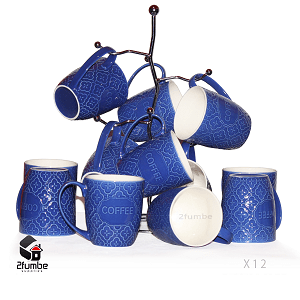 Ceramic Floral Coffee Mugs